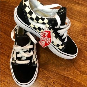 Brand new never worn Vans with box. Kids size 2.